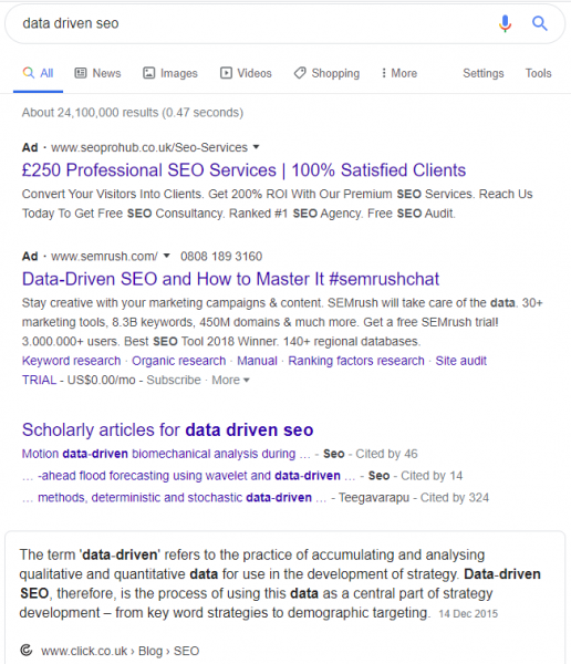 rich-result-for-data-driven-seo-below-two-ads