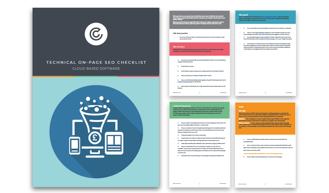 thank you for downloading Technical On-page SEO Checklist - Cloud Based Software
