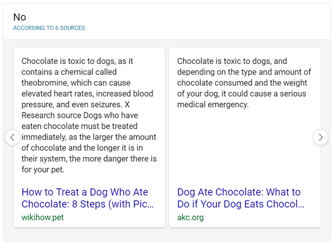 bing search for can dogs eat chocolate - new style