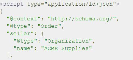 org schema example
