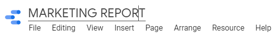 naming report
